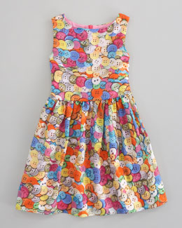 Charabia Button-Print Dress
