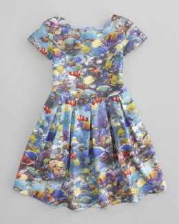Charabia Aquarium-Print Dress