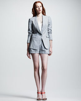 Rag & Bone Jefferson Seersucker Blazer & Tennis Pleated Seersucker Shorts