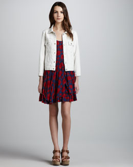 MARC by Marc Jacobs Lily Relaxed Denim Jacket & Sam Layered-Skirt Printed Dress