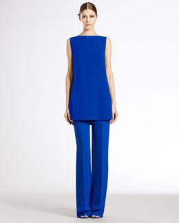 Gucci Sleeveless Stitch Down Top & Skinny Flare Pants