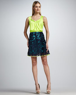 Elie Tahari Regan Silk Blouse & Alexandra Lace Skirt
