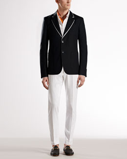 Gucci Cotton-Linen Canvas Jacket & Textured Pants