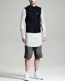 Rick Owens Short Jungle Vest, Basic Tee & Basket Swinger Shorts