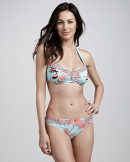 Nanette Lepore Toile-Print Two-Piece Swimsuit