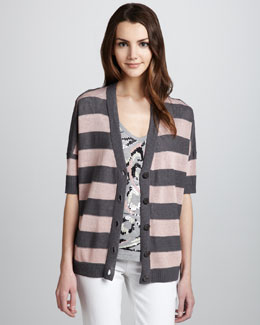 Milly Smith Hi-Lo Tee & Jersey Cardigan