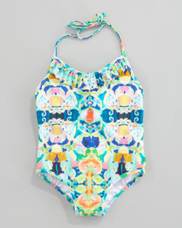 Milly Minis Kaleidoscope Print One-Piece Swimsuit