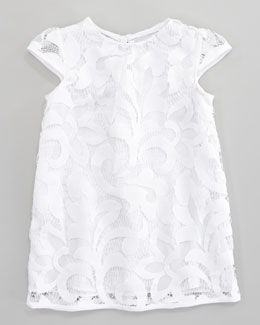 Milly Minis Magnolia Cap Sleeve Lace Dress