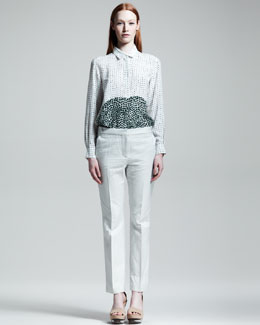Stella McCartney Dot-Print Blouse & Jacquard Slim Pants