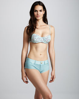 MARC by Marc Jacobs Jamie Denim Boyshorts Bikini