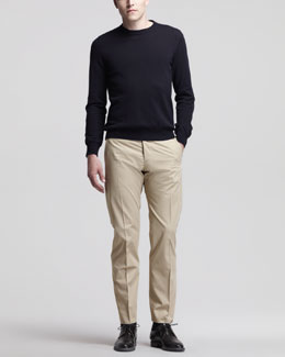 Maison Martin Margiela Crew Neck Sweater & Flat-Front Trousers