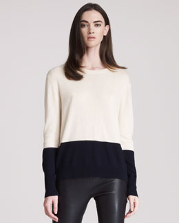 THE ROW Cashmere Colorblock Knit Sweater