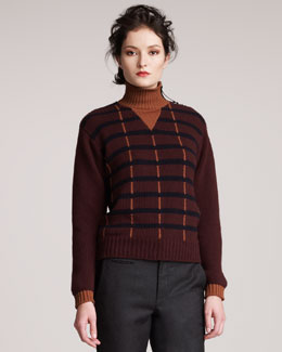 Marni Intarsia-Striped Sweater