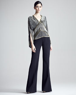 Ralph Lauren Collection Flared Gabardine Pants