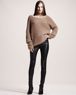 THE ROW Quilted Stretch-Leather Leggings