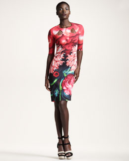 Peter Pilotto Jersey Cutout Dress