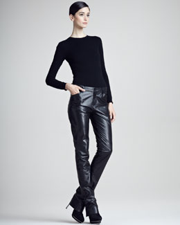 Ralph Lauren Black Label Kyler Leather Pants