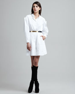 Maison Rabih Kayrouz Folded-Sleeve Shirtdress