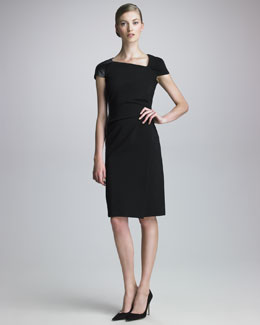 J. Mendel Asymmetric Techno Jersey Dress