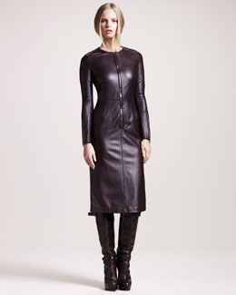 Belstaff Wigston Zip-Front Leather Dress