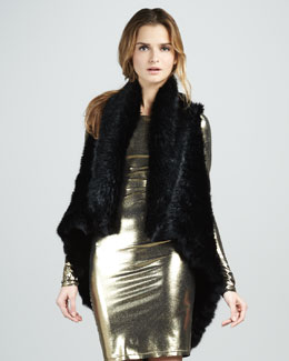 Alice + Olivia India Fur Cascade Vest