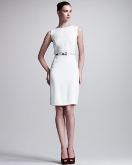 Fendi Belted Peplum-Back Dress