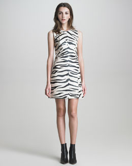 3.1 Phillip Lim Zebra-Print Leather Dress