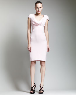 Alexander McQueen COWL NECK DRESS