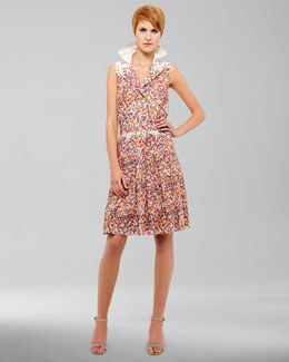 Akris punto Confetti-Print Sleeveless Dress