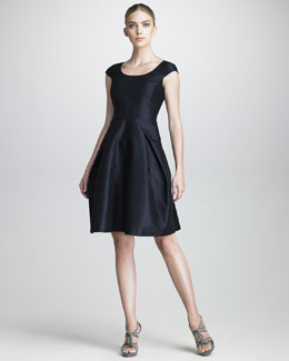 Armani Collezioni Full-Skirted Taffeta Dress
