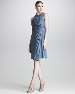 Armani Collezioni Twisted Crepe Dress