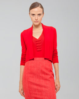 Akris Long-Sleeve Cropped Cardigan