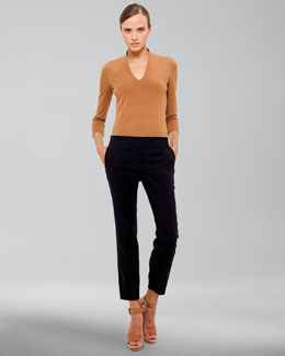 Akris Frances Medium-Rise Pants