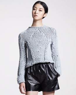 Alexander Wang Seamless Chunky Hand-Knit Sweater