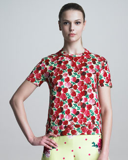 Marc Jacobs Floral-Print Crewneck Sweater