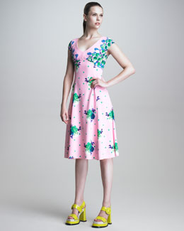 Marc Jacobs Dot Floral Print Dress