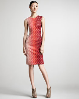 Missoni Ombre Crochet Contrast-Front Dress