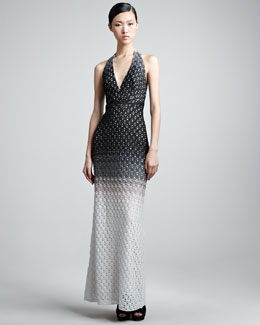 Missoni Crocheted Halter Gown