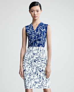 Missoni Sleeveless Surplice Bodice Dress