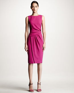 Carolina Herrera Draped Crepe Dress