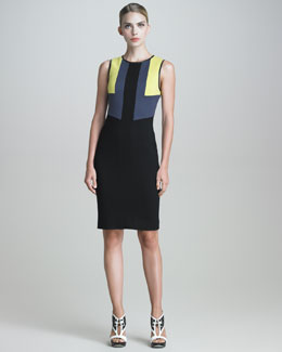 Jason Wu Techno Jersey Colorblock Dress