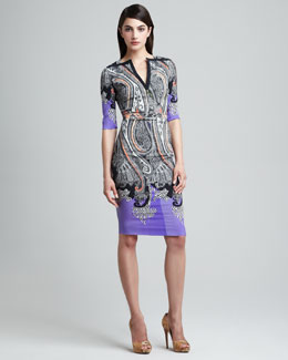 Etro Paisley-Print Sheath Dress