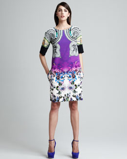 Etro Paisley & Floral Printed Shift Dress