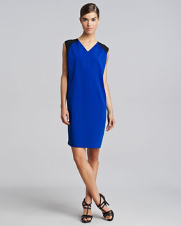 Derek Lam Sleeveless Colorblock Silk Dress
