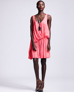 Lanvin Draped Drop-Waist Dress