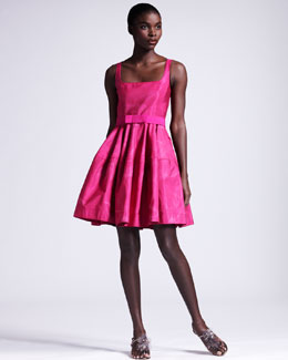 Lanvin Ombre Orchid Faille Dress
