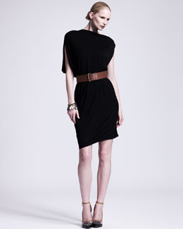 Lanvin Asymmetric Draped Jersey Dress
