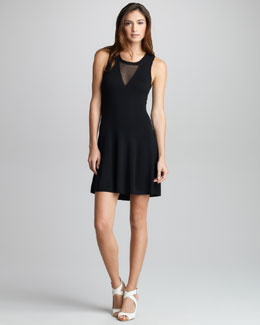 3.1 Phillip Lim Sheer-Inset Merino Dress