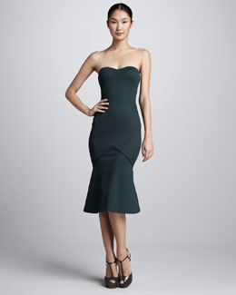 Zac Posen Bonded Jersey Strapless Dress
