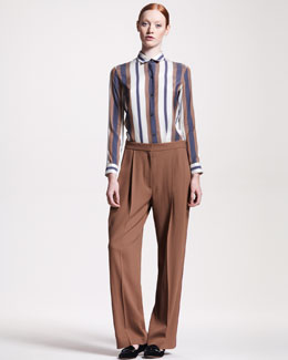 THE ROW Pleated Wide-Leg Pants